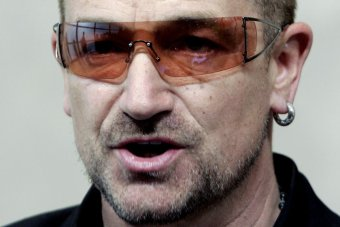 U2 frontman Bono says trademark sunglasses are for glaucoma